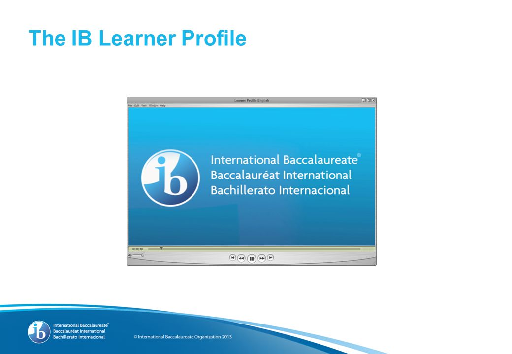 The IB continuum of international education IB mission statement PYP MYP Programme standards and practices IB learner profile PYPMYP DPIBCC 1997199419682012