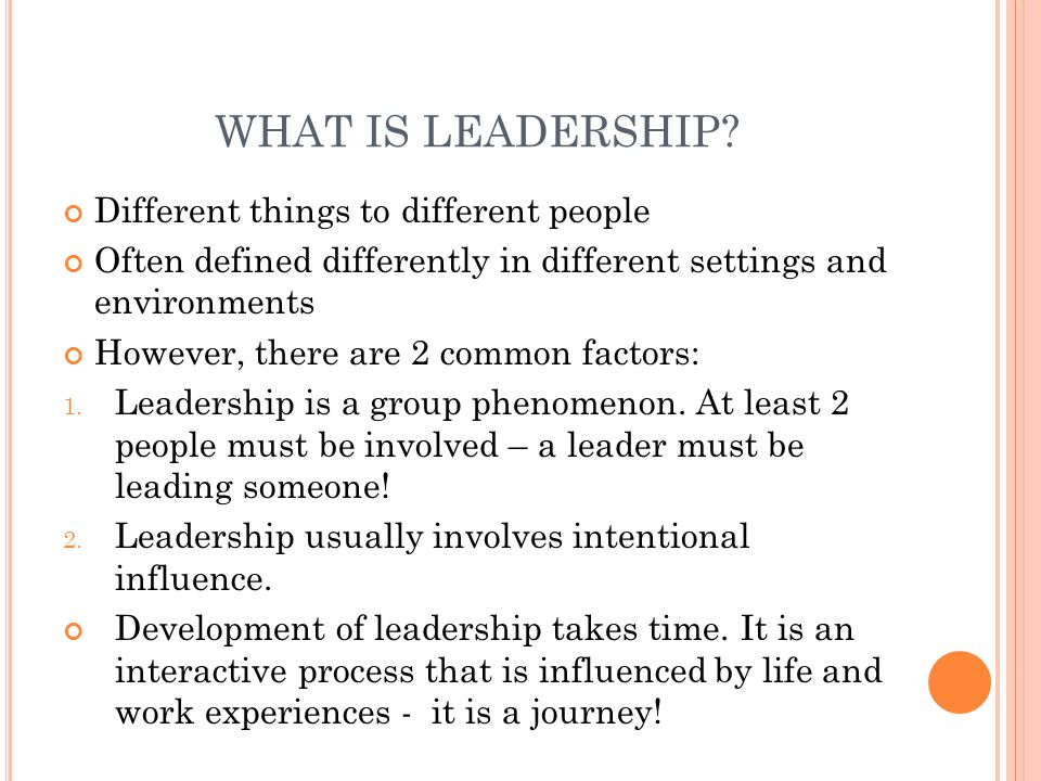 WHO ARE LEADERS.Think of someone who you consider to be a great leader .
