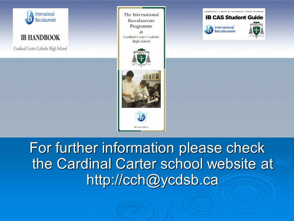 For further information please check the Cardinal Carter school website at