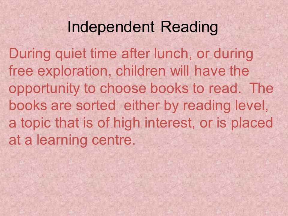 Example of a levelled book: A to Z reader
