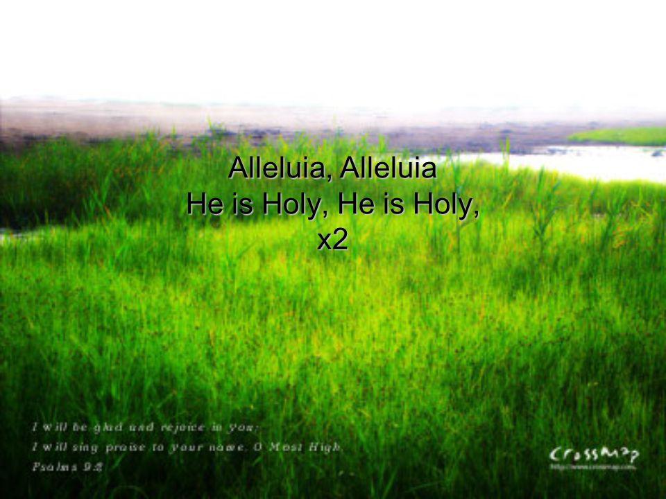 Alleluia, Alleluia He is Holy, He is Holy, x2