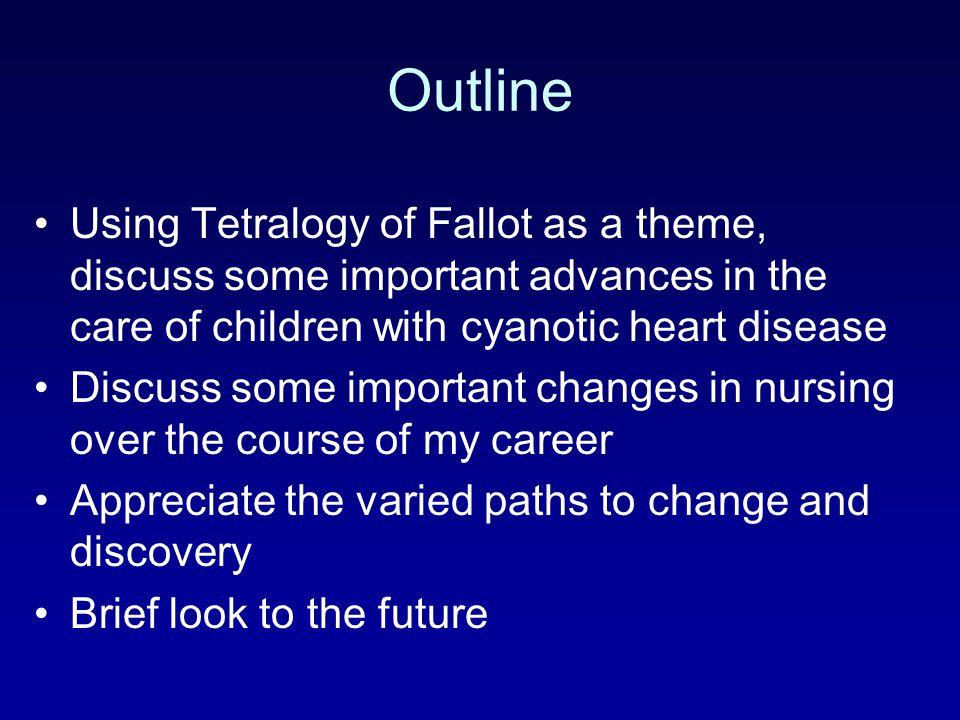 Tetralogy of Fallot Most common cyanotic heart defect Described in 1888 1.Infundibular Pulmonic Stenosis 2.Right ventricular hypertrophy 3.Conoventricular VSD 4.Dextroposition of the Aorta –Overrides VSD