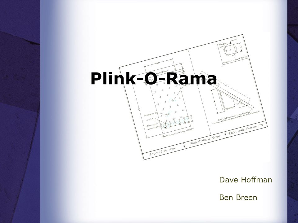 Plink-O-Rama Dave Hoffman Ben Breen