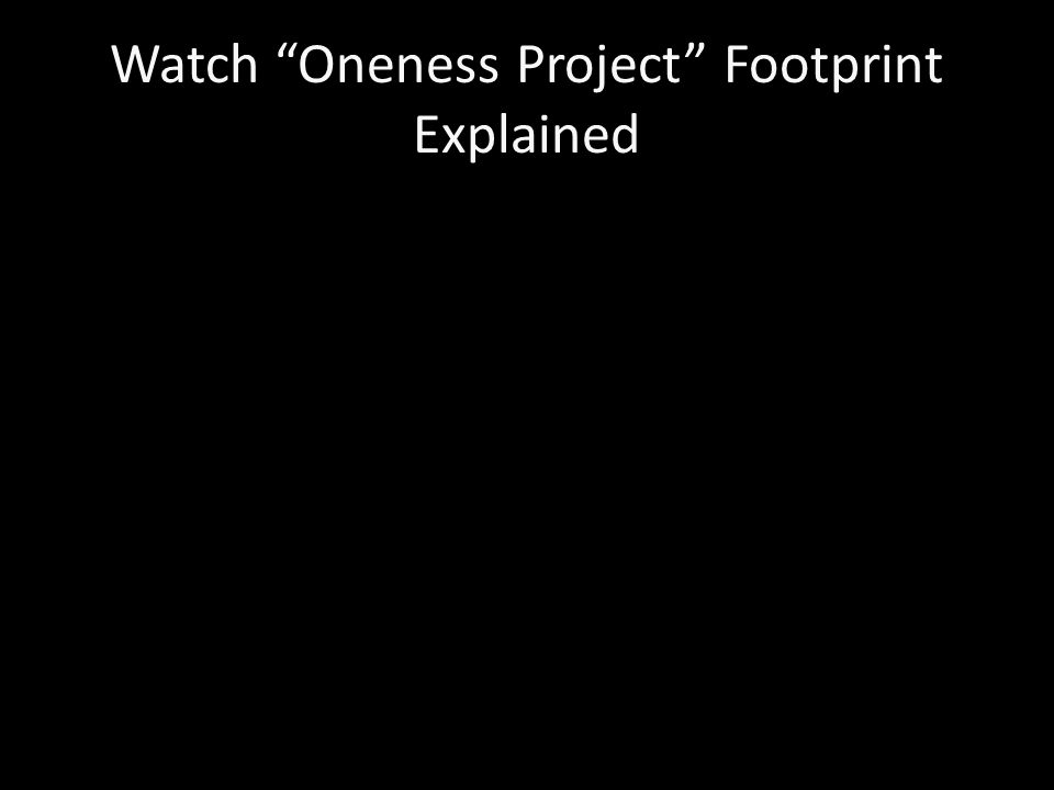 Watch Oneness Project Footprint Explained