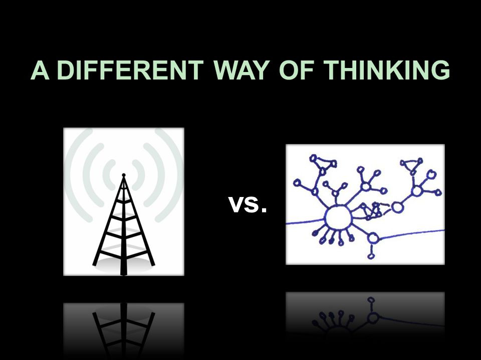 A DIFFERENT WAY OF THINKING vs.