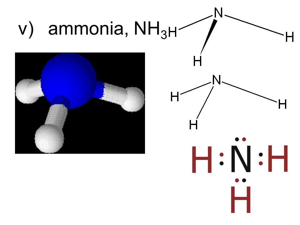 v)ammonia, NH 3