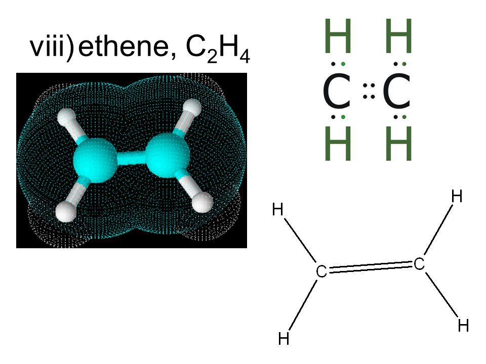 viii)ethene, C 2 H 4