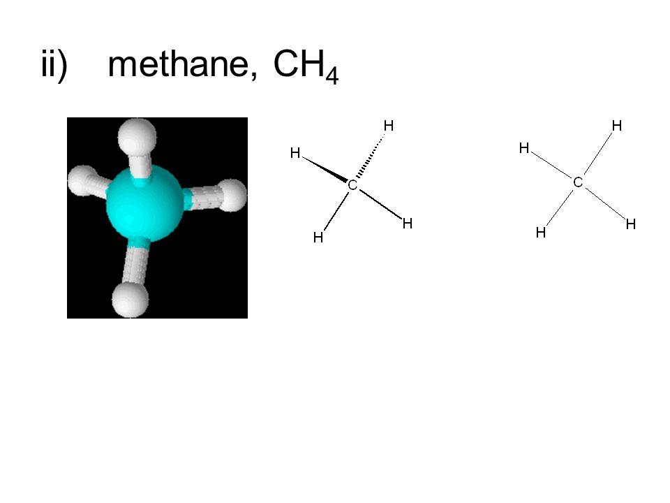 ii)methane, CH 4