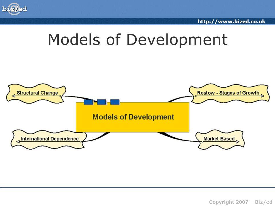 http://www.bized.co.uk Copyright 2007 – Biz/ed Models of Development
