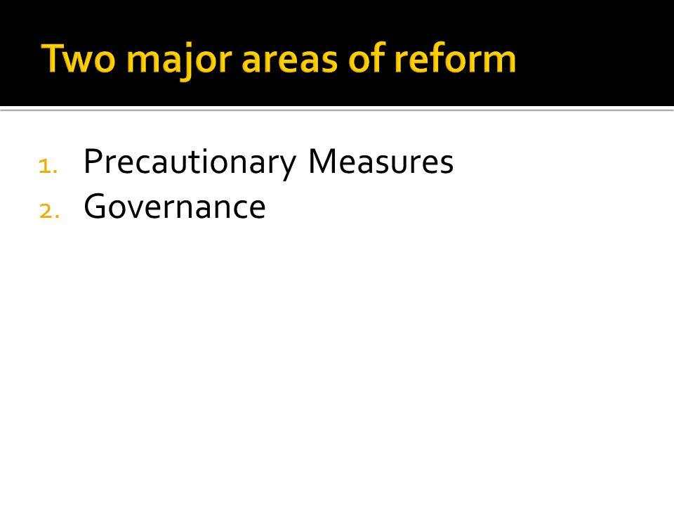 1. Precautionary Measures 2. Governance