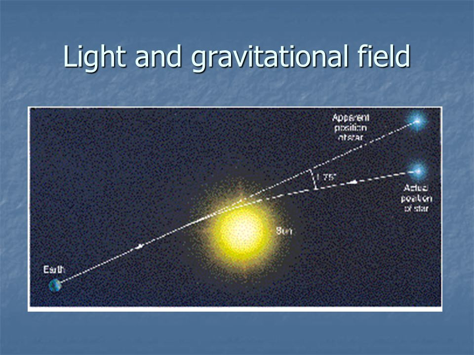 Light and gravitational field