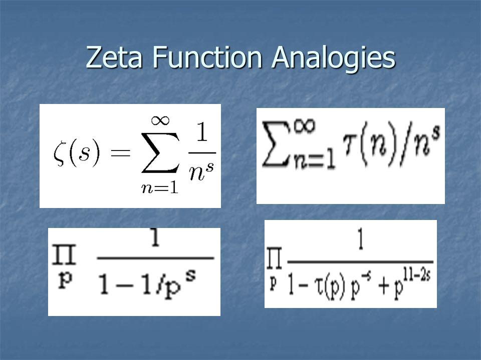Zeta Function Analogies