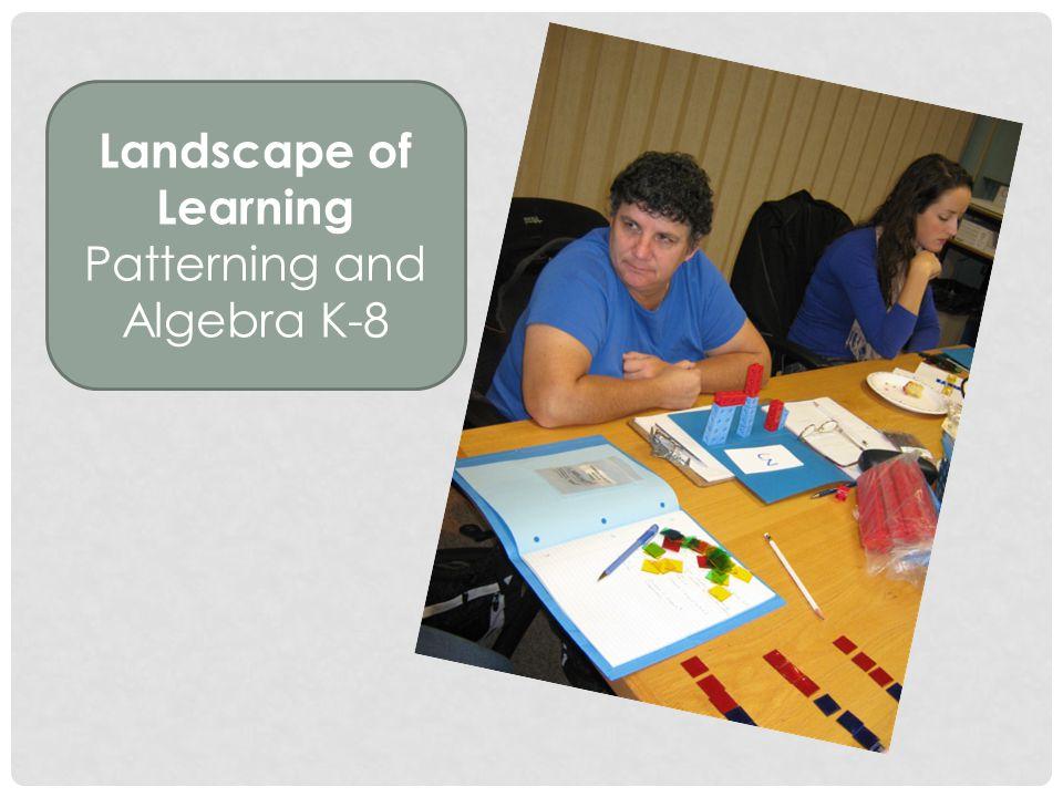 Landscape of Learning Patterning and Algebra K-8