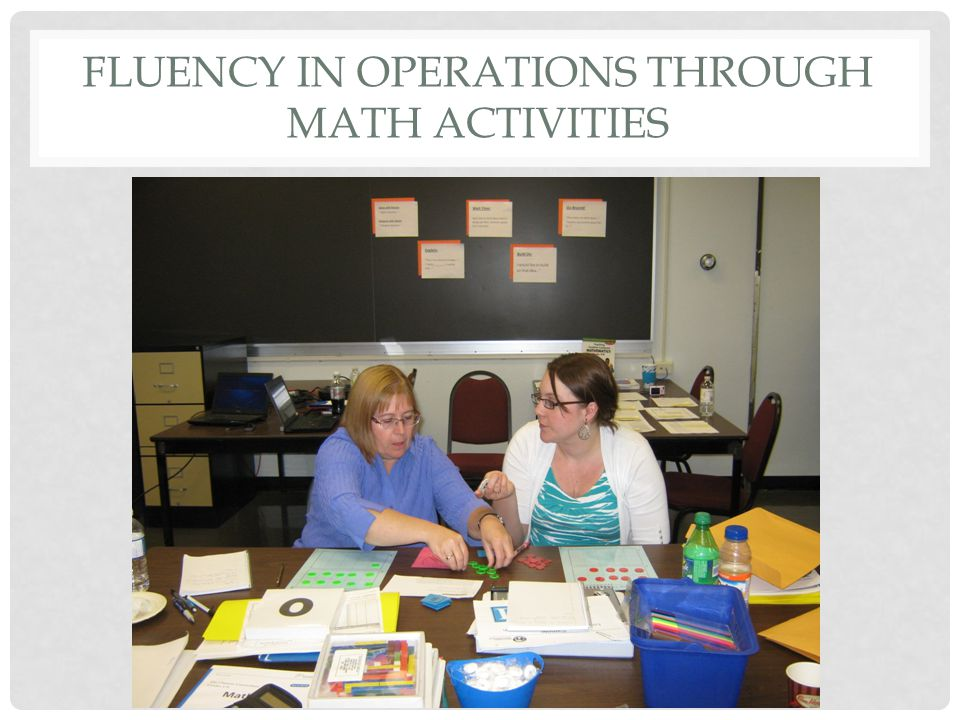 FLUENCY IN OPERATIONS THROUGH MATH ACTIVITIES