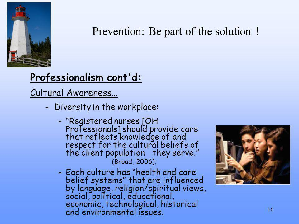 Prevention: Be part of the solution .
