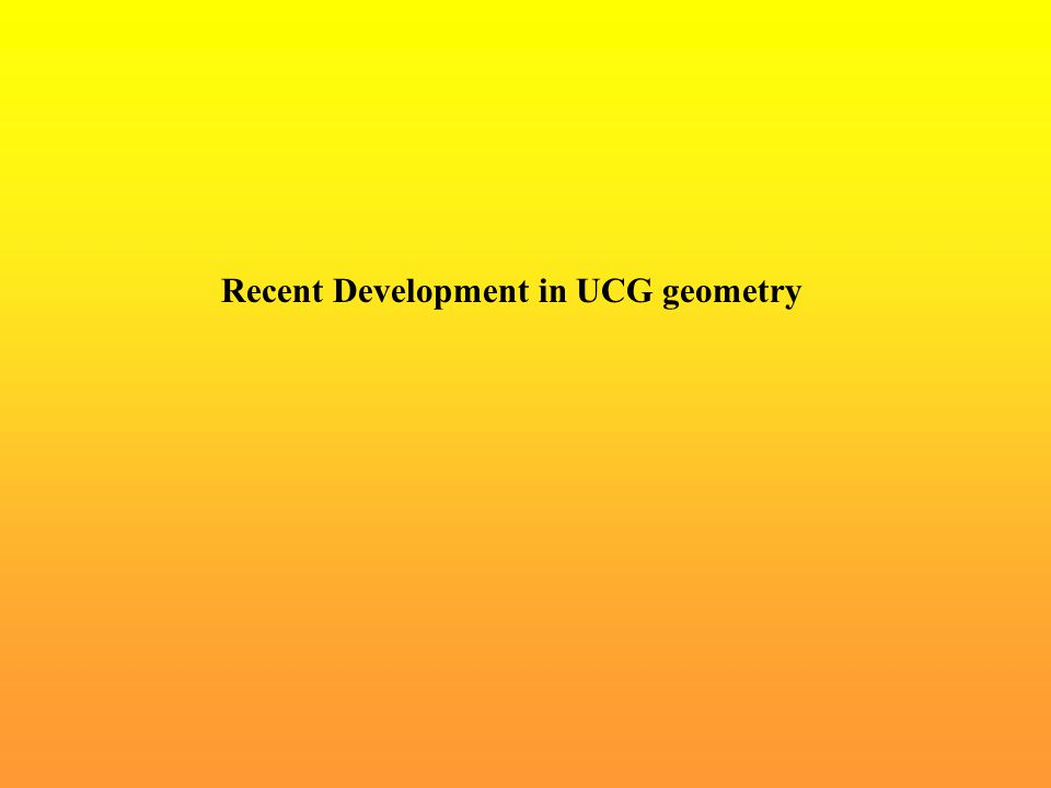 Recent Development in UCG geometry