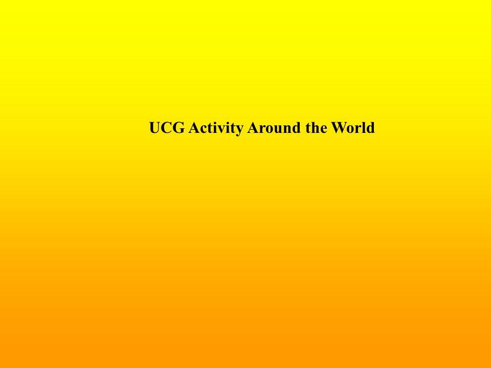 UCG Activity Around the World