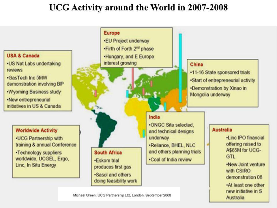 UCG Activity around the World in 2007-2008