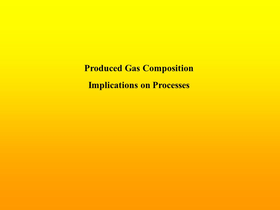 Produced Gas Composition Implications on Processes