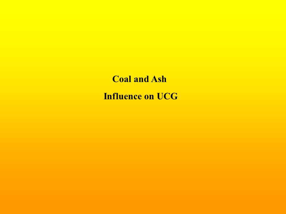 Coal and Ash Influence on UCG