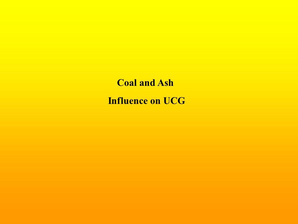 Coal and Ash Influence on UCG