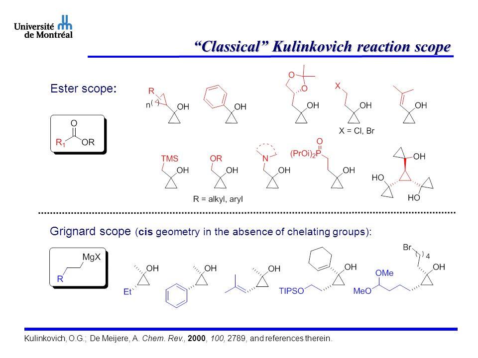 Application in natural product synthesis De Meijere, A. et al. Chem. Eur. J. 2002, 8, 3789.