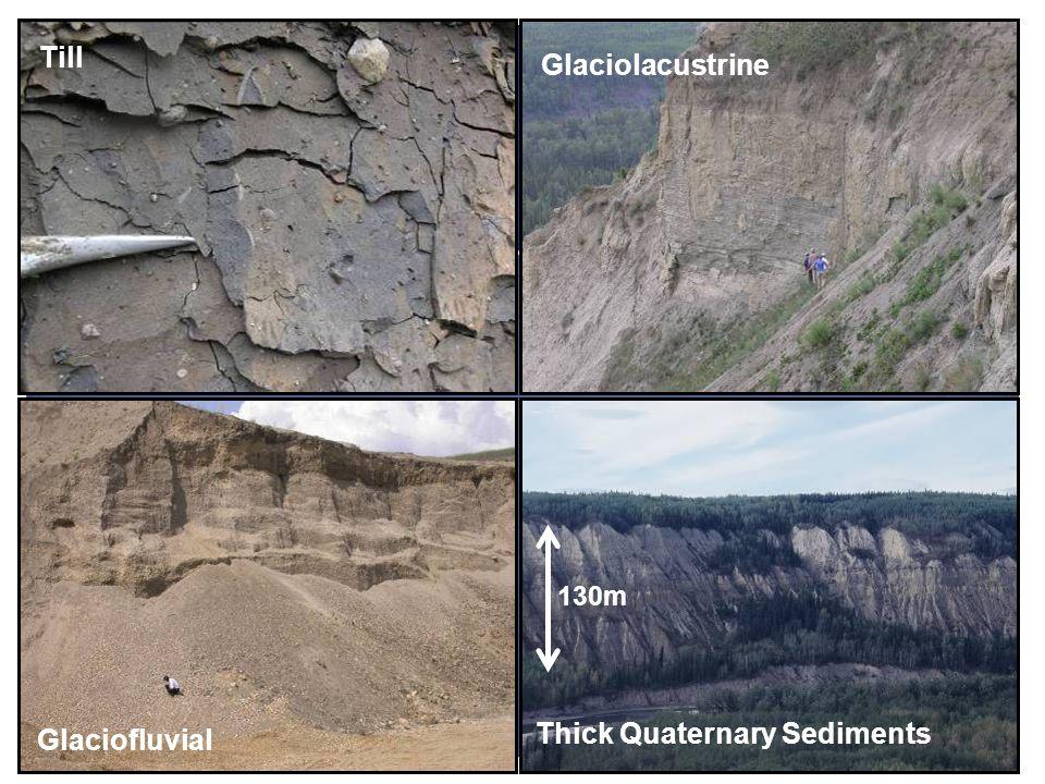 Till Glaciolacustrine Glaciofluvial 130m Thick Quaternary Sediments