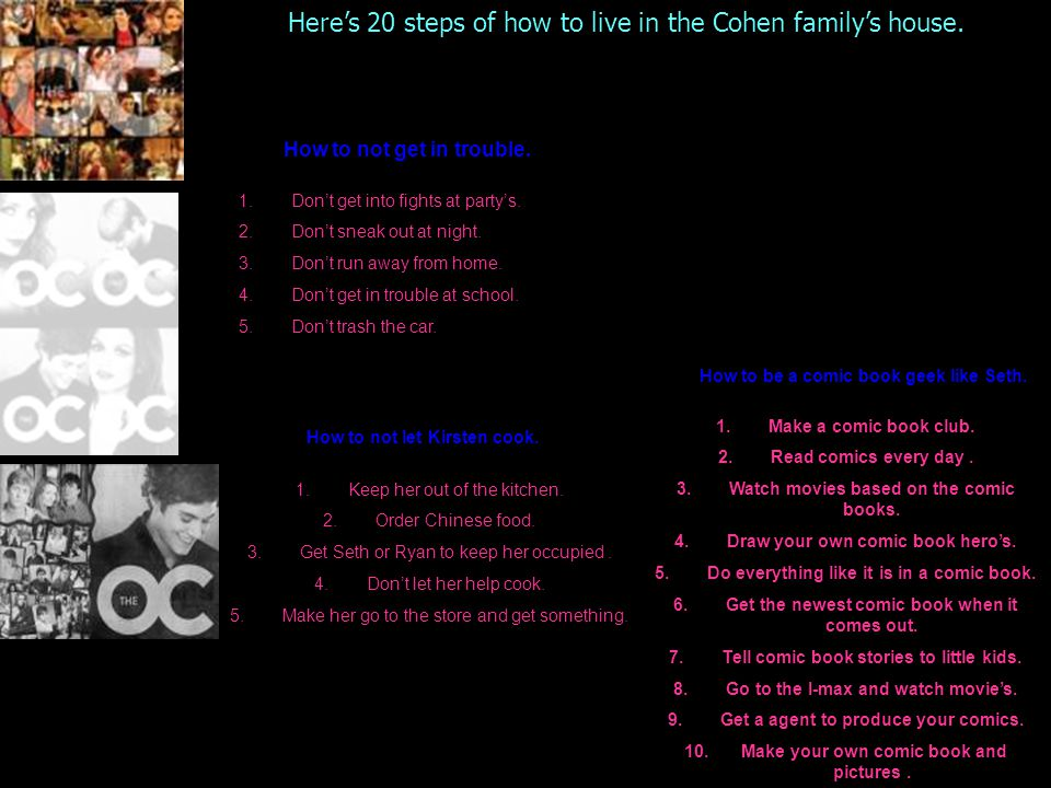 The O.C 1.Where did Ryan live before he came to live with the Cohen's.