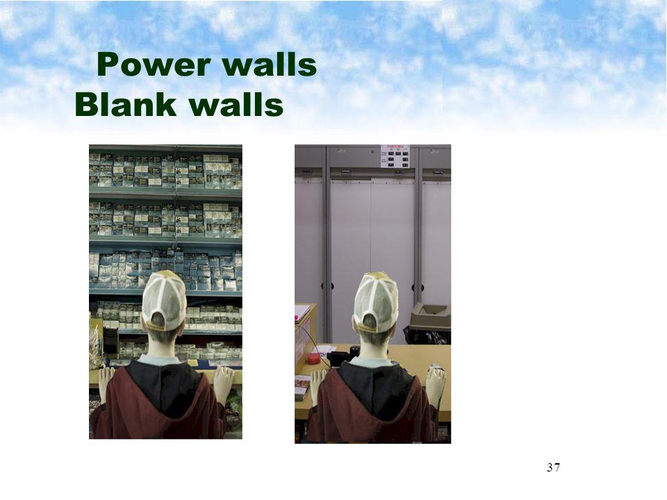 37 Power walls Blank walls