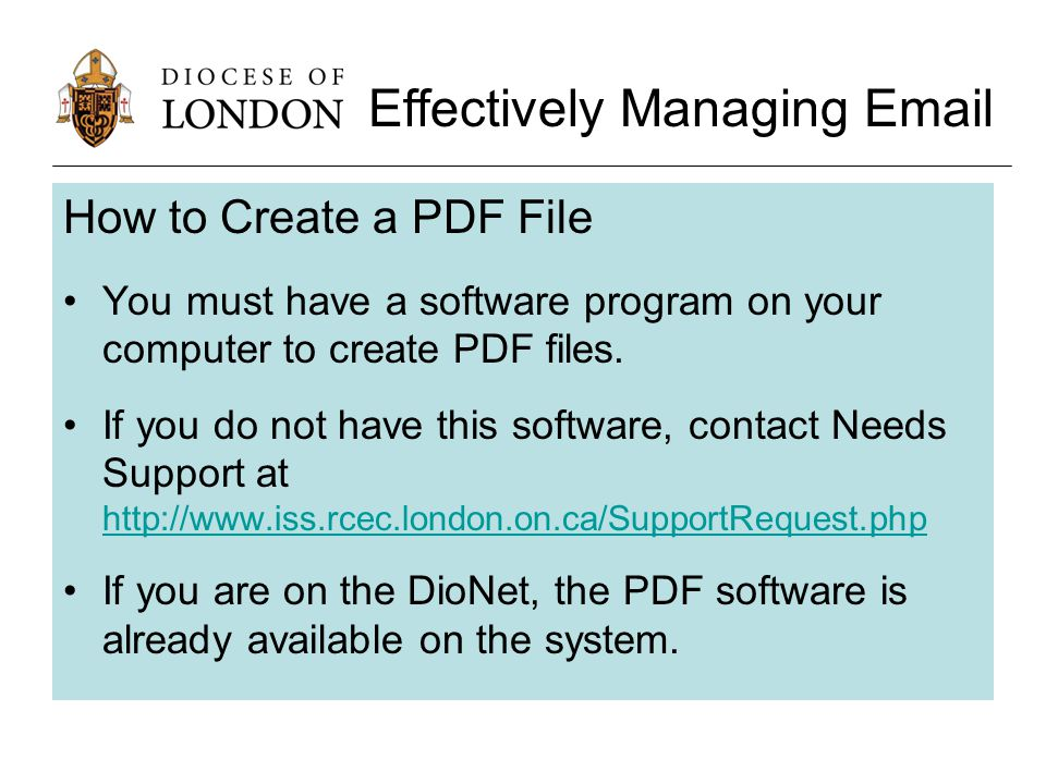 How to Create a PDF File You must have a software program on your computer to create PDF files.