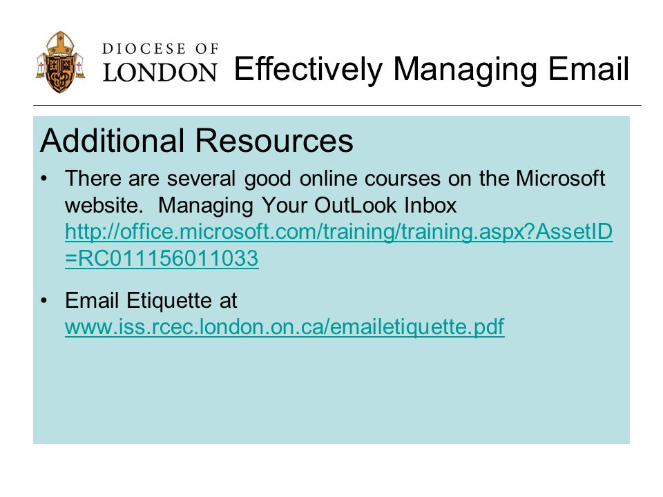 Additional Resources There are several good online courses on the Microsoft website.