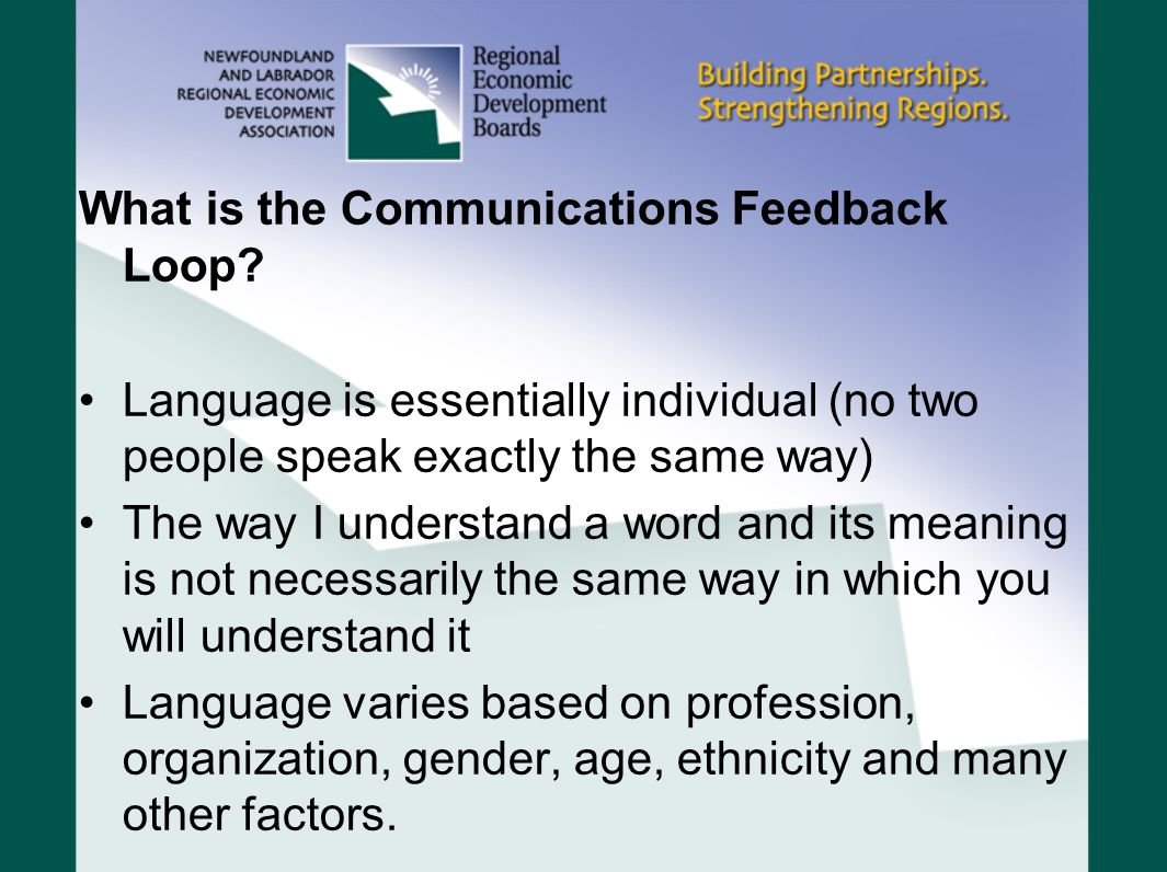What is the Communication Feedback Loop.