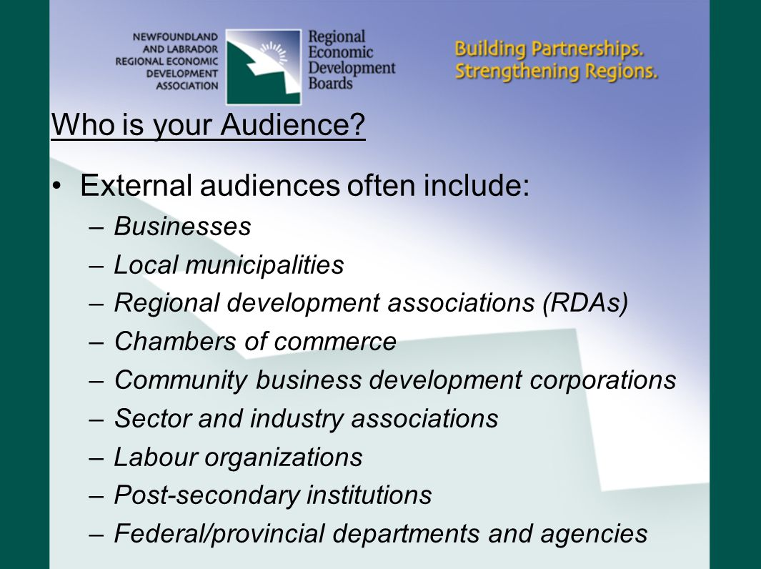 Who is your Audience.