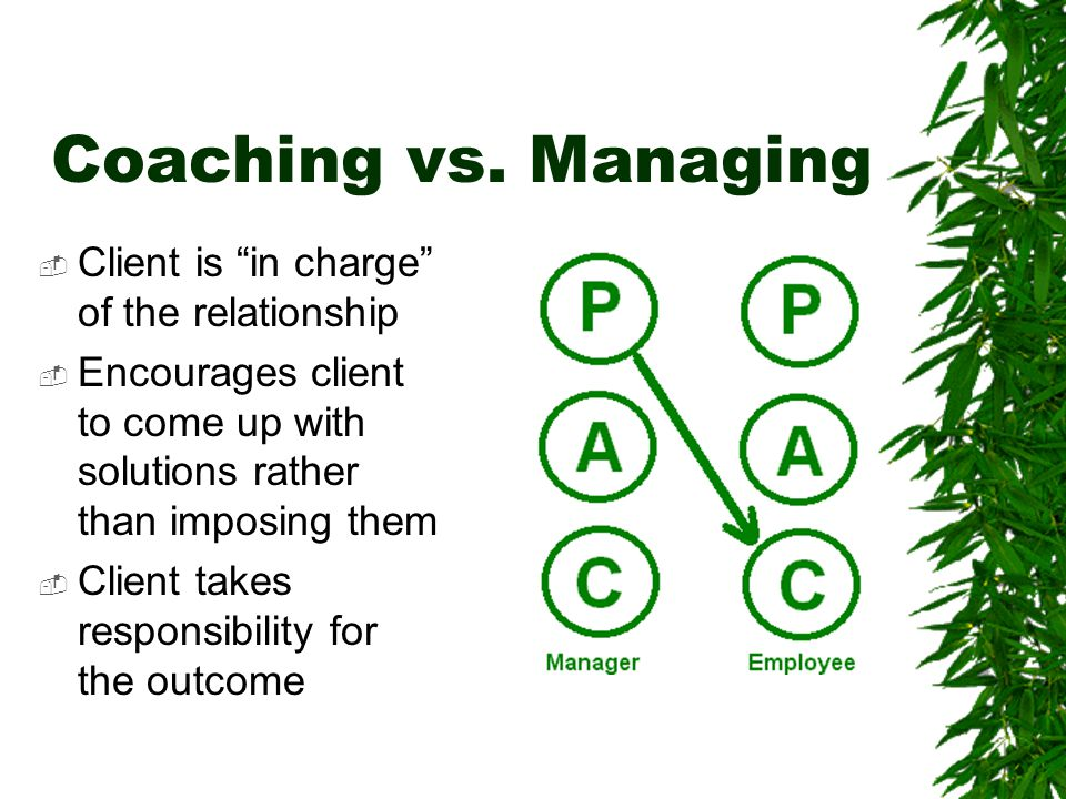 Coaching vs.
