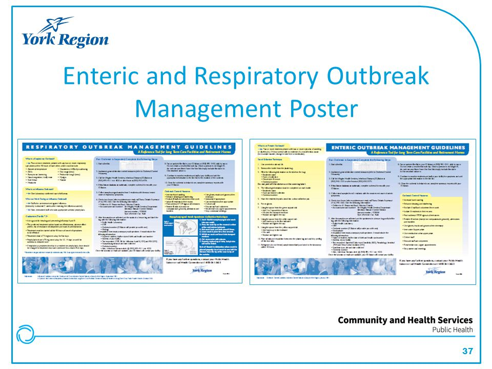 37 Enteric and Respiratory Outbreak Management Poster