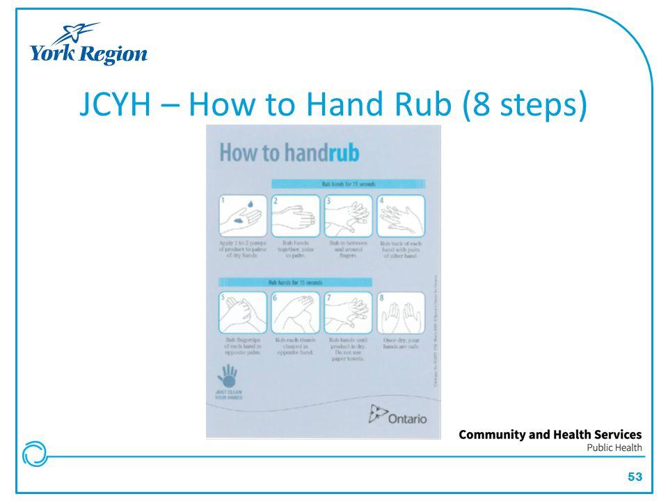 53 JCYH – How to Hand Rub (8 steps)