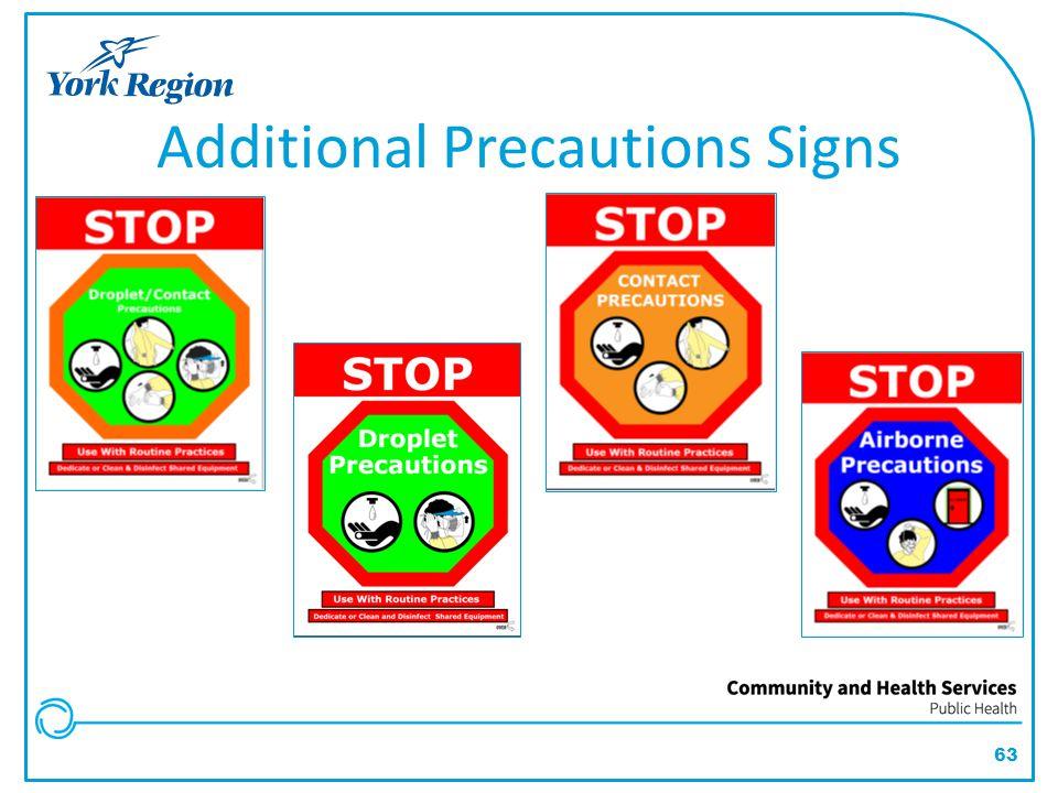 63 Additional Precautions Signs