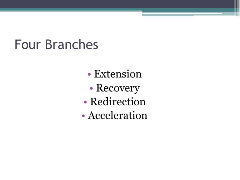 Four Branches Extension Recovery Redirection Acceleration