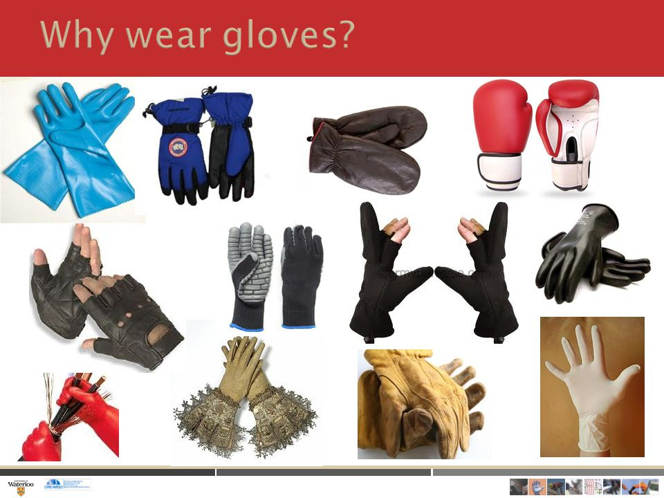 1.Understand characteristics of gloves in general that increase fatigue and decrease prehensile performance 2.Use these ideas to evaluate anti-vibration gloves 3.Use these ideas to evaluate surgical gloves
