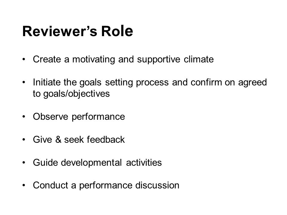 Planning for Next Review Period Aligns Individual efforts and the organization's priorities Includes Objectives and special projects Professional Development plan Professional Development plan for any staff supervised.