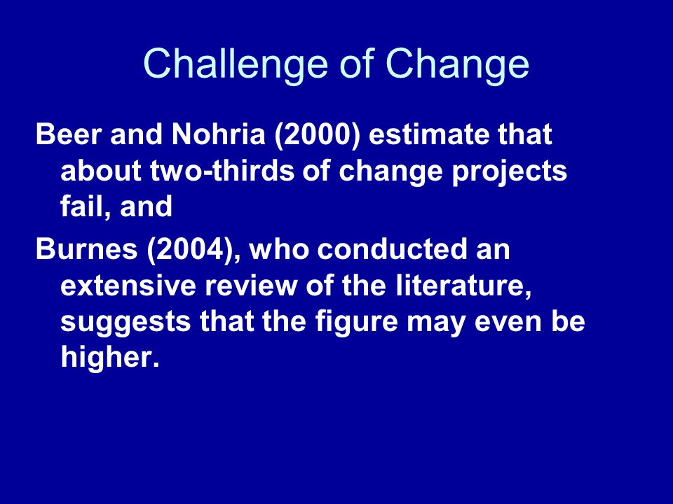 Change's path The learning curve Change Failed Change Successful Change Doubt Point Escalating Commitment or Darkest before the Dawn?