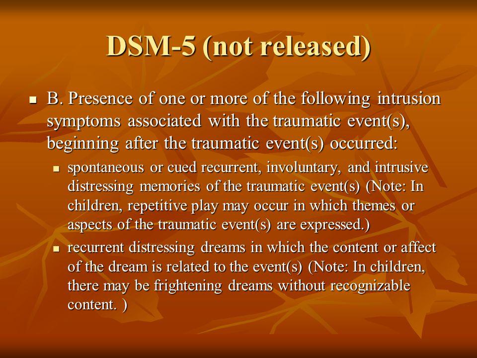 DSM-5 (not released) B.