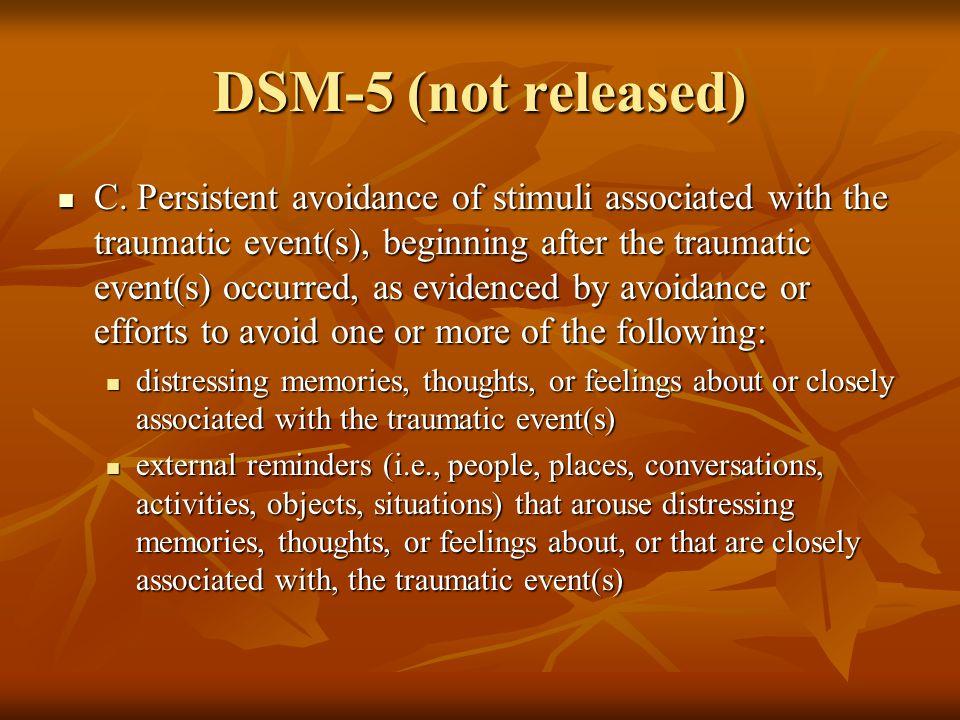 DSM-5 (not released) C.