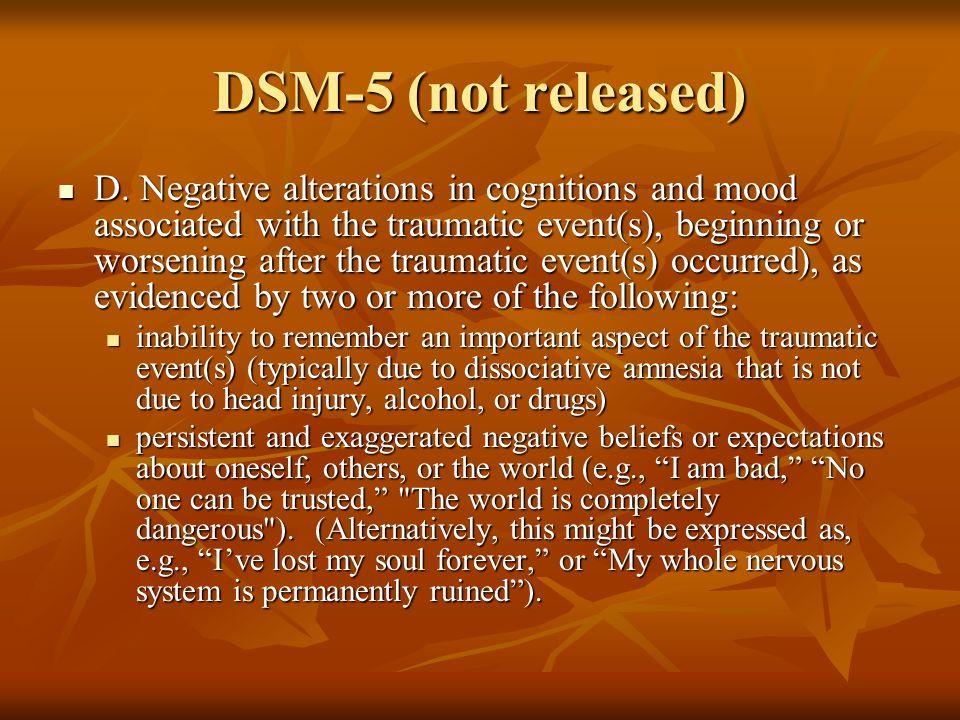 DSM-5 (not released) D.