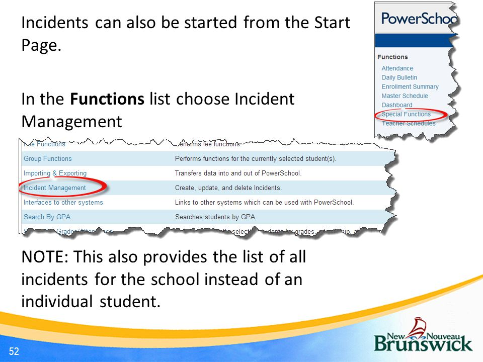 Incidents can also be started from the Start Page.