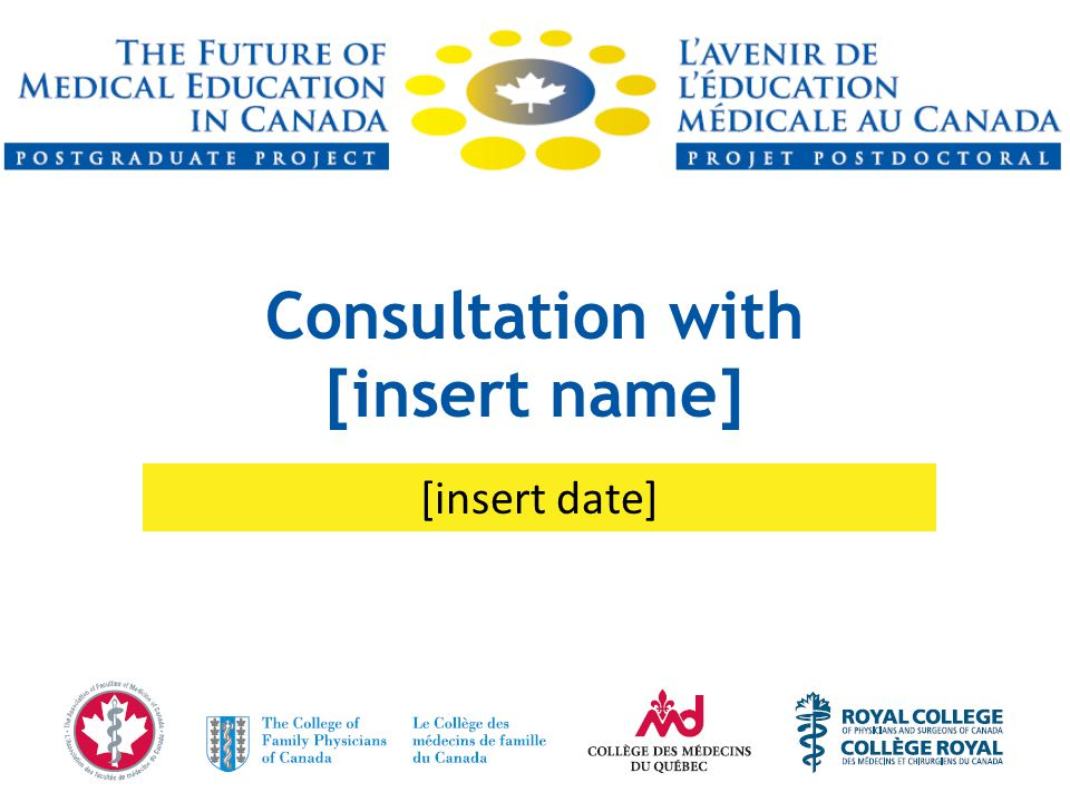 Consultation with [insert name] [insert date]