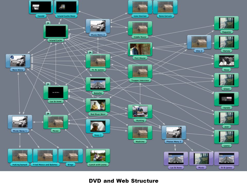 DVD and Web Structure