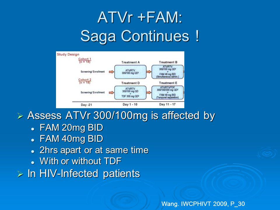 ATVr +FAM: Saga Continues .