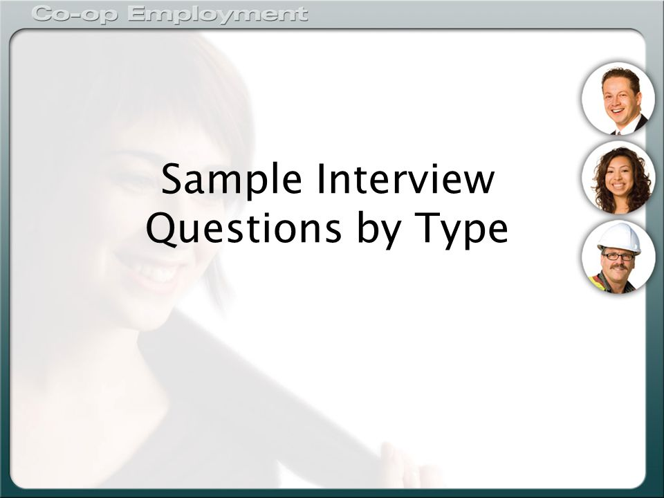 Sample Interview Questions by Type