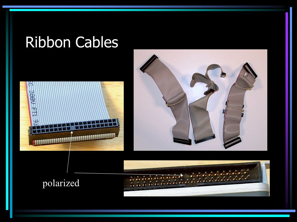 Ribbon Cables polarized